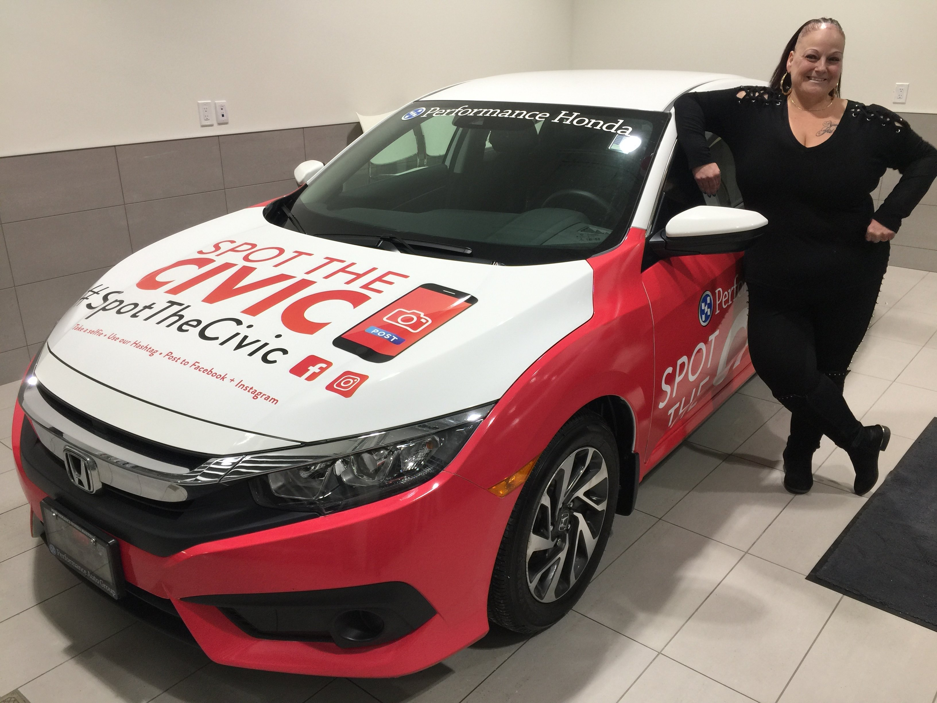 Spot the Civic & Win! with Performance Honda Mayfield