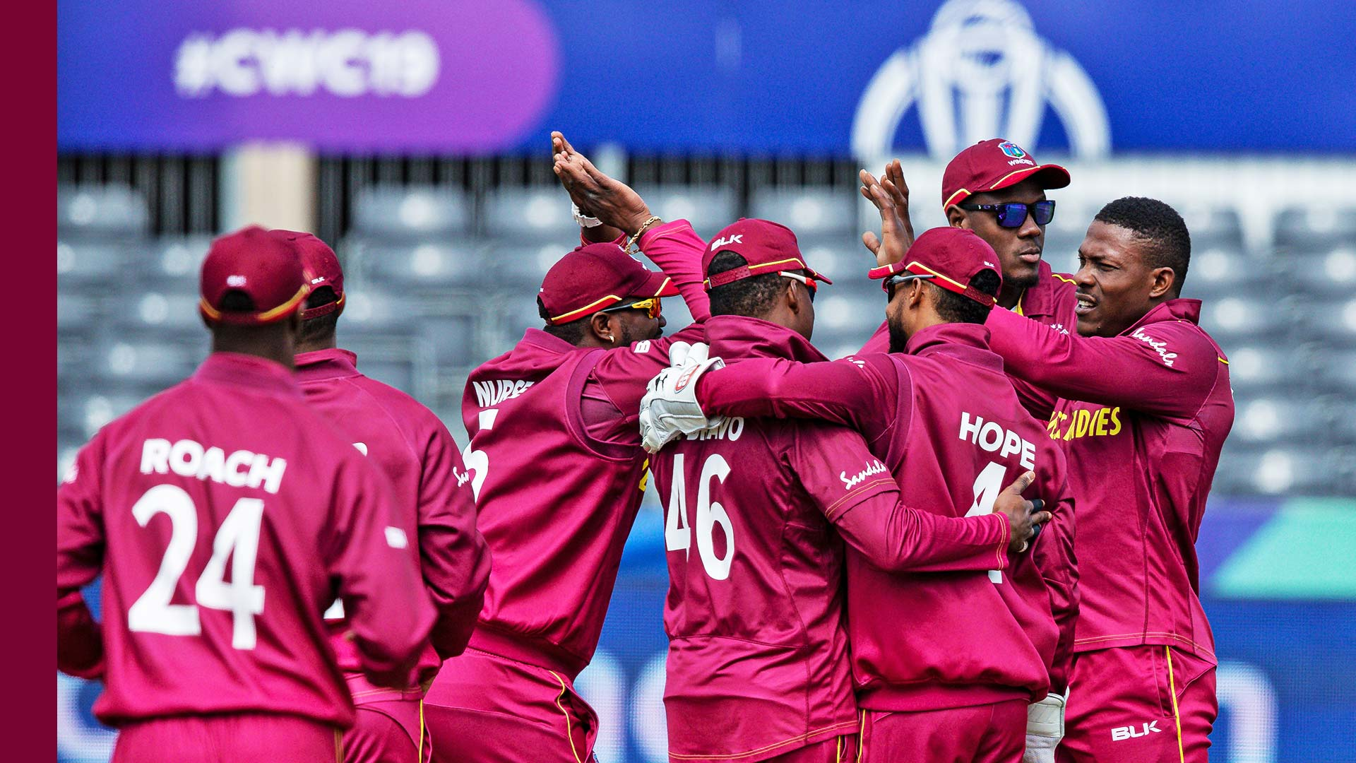 West Indies drop two straight games at Cricket World Cup